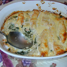 Salmon Spinach Bake
