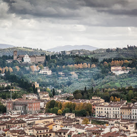 Florence Skyline by Paul Stonehouse - Landscapes Travel ( florence, italy )