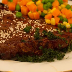 Garlic Sesame T-Bones or Porterhouse Steaks