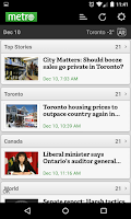 Screenshot of Metro News Canada