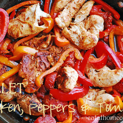 Skillet Chicken, Peppers & Tomatoes