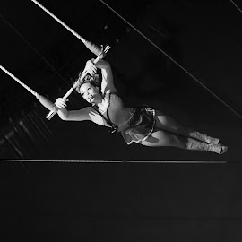 Flying  by Kamusinga Bishop - Sports & Fitness Fitness ( girl, superman, trapeze, lines, circus,  )