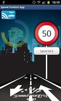 Screenshot of Speed Control App