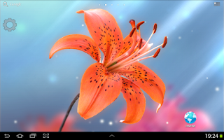Screenshot of Lily Live Wallpaper