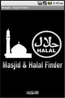 Screenshot of Masjid & Halal Finder