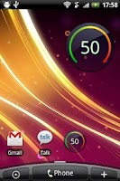 Screenshot of Digital Circle Battery Widget