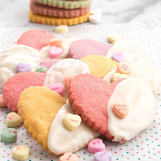 Sweetheart Shortbread Cookies Dipped in white Chocolate