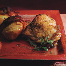 Baked Chicken and Bacon-Wrapped Lady Apples
