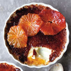 Crème Brûlée with Caramelized Blood Oranges
