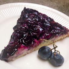 Concord Grape and Lemon Upside Down Cake