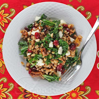 Warm Kale, Farro and Winter Fruit Salad
