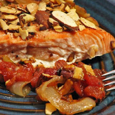 Salmon With Almonds and Tomato-Lemon Sauce