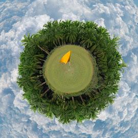 by Alexlky KT - Digital Art Places ( golf course, par 3 )