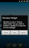 Screenshot of Vibration Widget