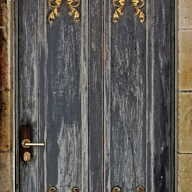 Gold leaf door by Michael Moore - Buildings & Architecture Architectural Detail ( door,  )