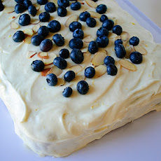 Blueberry Banana Cake with Lemon Cream Cheese Frosting