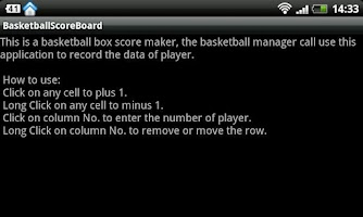 Screenshot of Basketball Boxscore Maker
