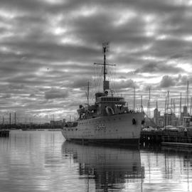 HMAS Castlemaine by Peter Keast - Transportation Boats ( ship, mine, transportation, museum, navy )