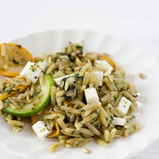 Orzo with mixed herb pistou