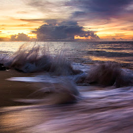 Clear for awhile by Sonny Saban - Landscapes Beaches ( clouds, sand, sunsets, waves, travel, rote island )
