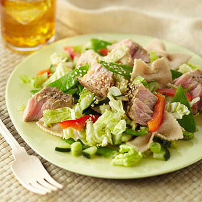 Seared Tuna Pasta Salad