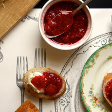 Strawberry Raspberry Vanilla Quick Jam