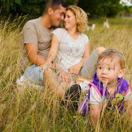Happy family by Adrian Podaru - People Family ( family, baby face, garden, people, baby boy )