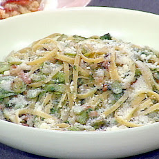 Fettuccine with Fresh Fava Beans and Pancetta