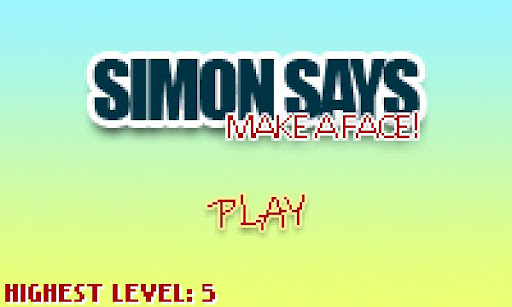 """西蒙說:""""做個鬼臉!"""
