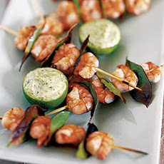 Bay Scented Prawns With Basil Mayonnaise