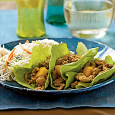 Chinese Chicken and Persimmon Lettuce Wraps