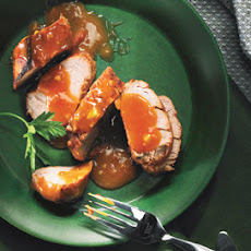 Roast Pork Tenderloin with Apricot-Miso Glaze
