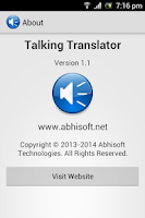 Screenshot of Talking Translator - AdFree