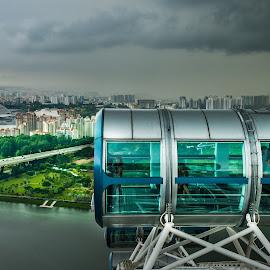 SG Flyer by Myint Thu - City,  Street & Park  Skylines