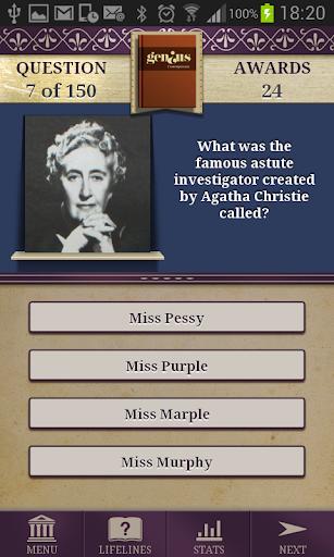 Genius Modern Literature Quiz - screenshot
