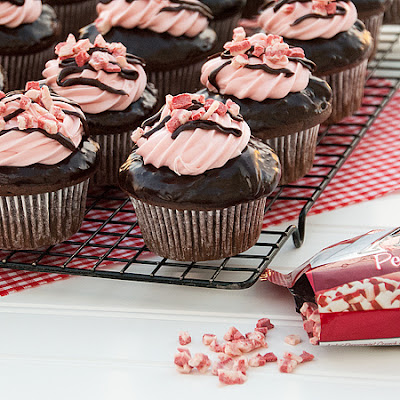 Chocolate Peppermint Twist Cupcakes