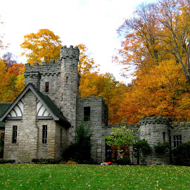 Squire's Castle 3 by Christine B. - Buildings & Architecture Other Exteriors ( metroparks, ohio, squire's castle, fall,  )