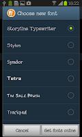 Screenshot of Storyline Typewriter FlipFont