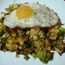 Brussels Sprout and Corn Hash (with
