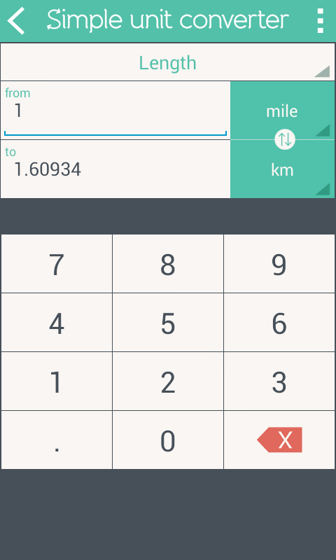 Simple Unit Converter Screenshot 1
