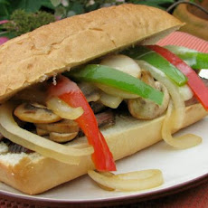 Kittencal's Beef and Bell Pepper Sandwich