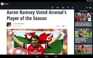 Screenshot of Arsenal News - 90min Edition