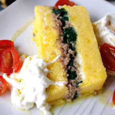 Layered Polenta Loaf With Italian Sausage & Cheese