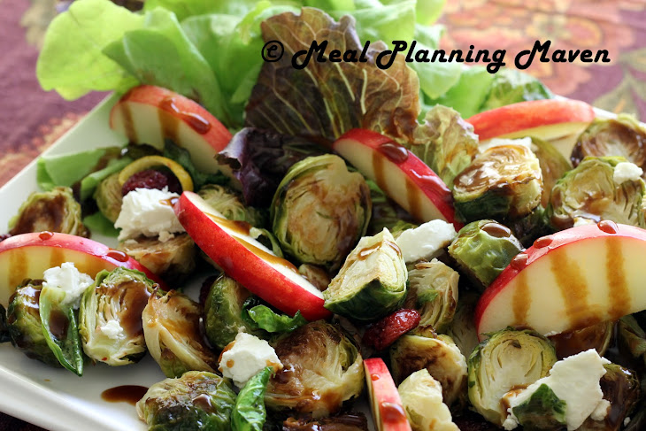 Roasted Brussels Sprouts 'n Apple Salad with Balsamic Drizzle Recipe ...