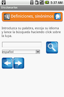 Screenshot of Diccionarios gratis