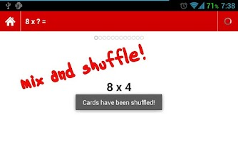 Screenshot of Times Tables Flashcards