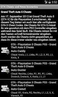 Screenshot of GTA Cheats und News