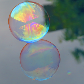 Bubble by Flynn Hodgson - Abstract Macro ( water, orange, creative, buy, vote, art, lake, ocean, yellow, photo, photography, real, bubble, macro, red, pool, blue, lovely, natural, rainbow, black, river )