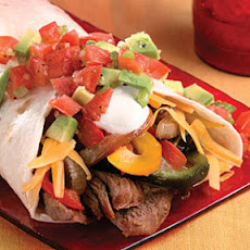 Grilled Steak Wraps With Avocado Picadillo