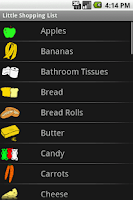Screenshot of Little Shopping List